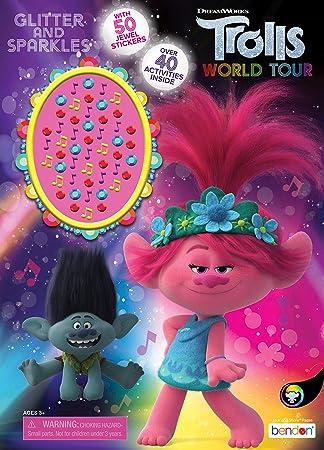 Trolls World Tour 47359 Libro Da Colorare E Attivita 48 Pagine Amazon It Giochi E Giocattoli