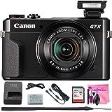 Canon PowerShot G7 X Mark II Digital Camera w/1 Inch Sensor and tilt LCD screen - Wi-Fi & NFC Enabled (Black) + Camera Works Digital Camera Cleaning Solution & High-Speed Memory Card (16GB)