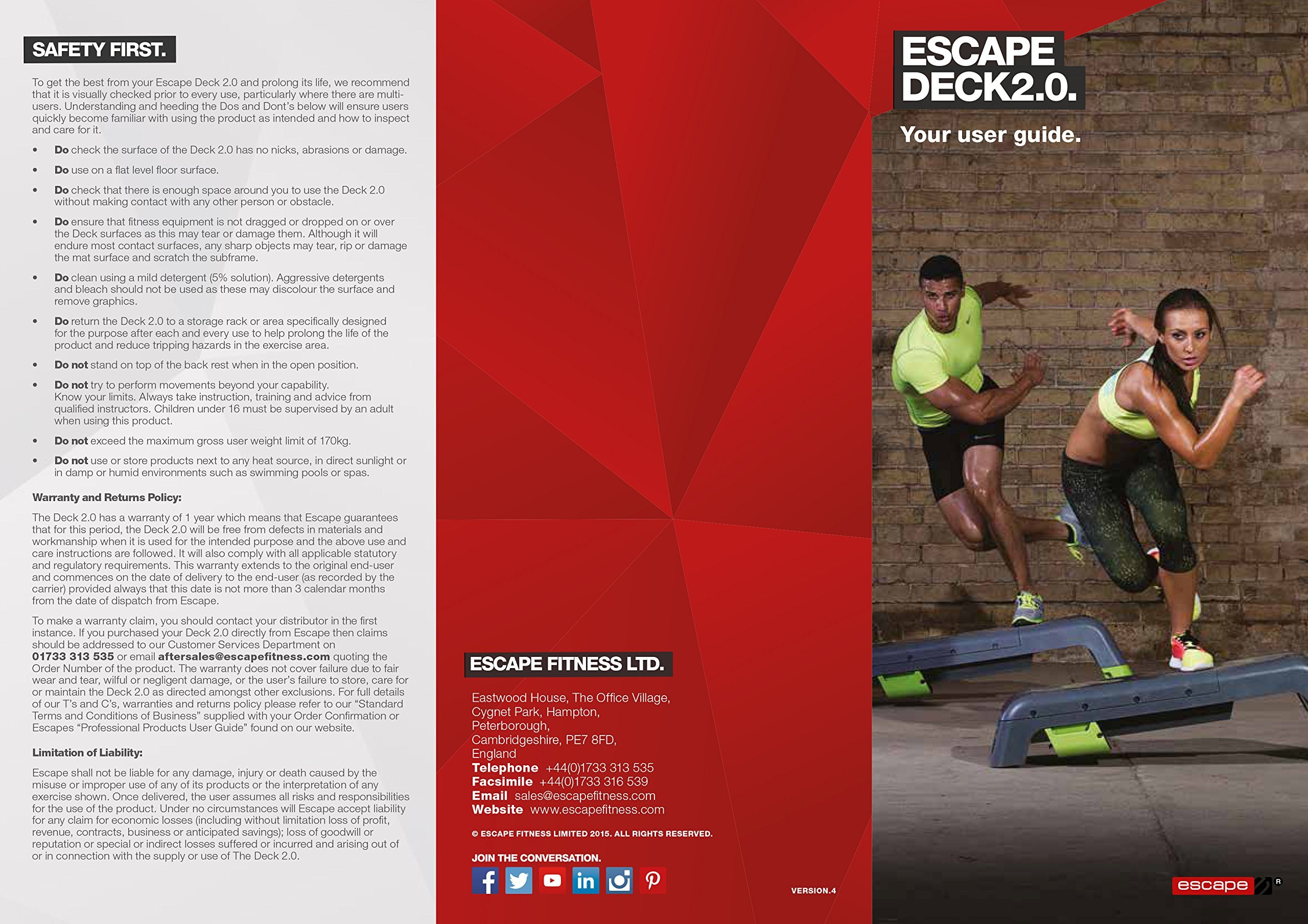 Escape Fitness Deck - Workout Bench and Fitness station by Escape Fitness USA (Image #19)