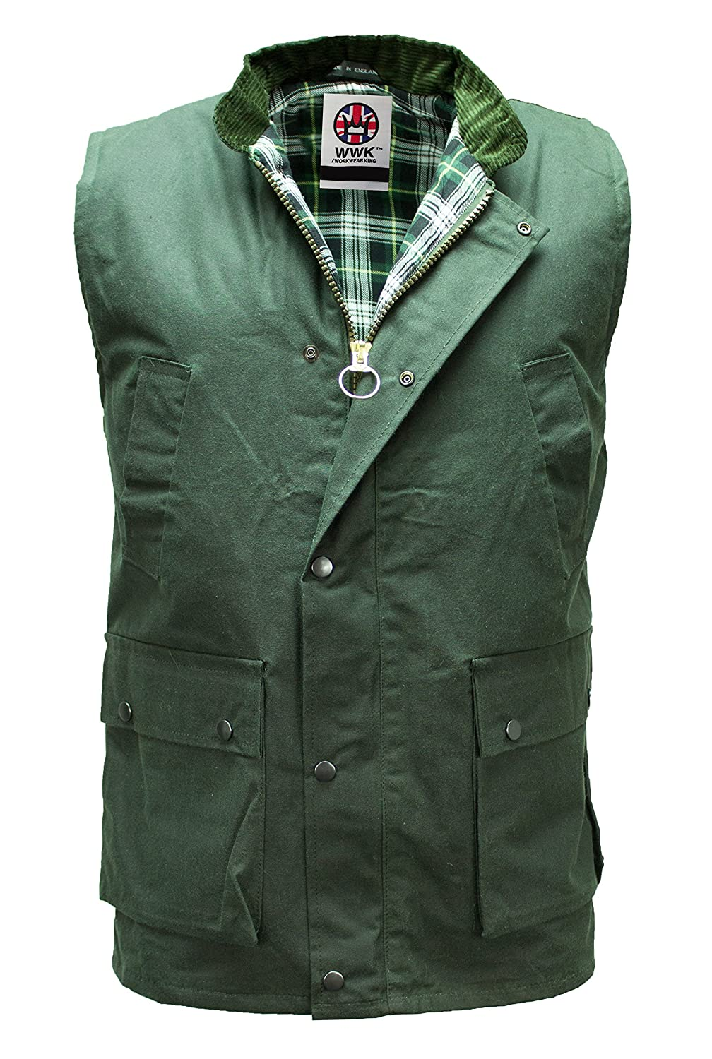Wwk new wax gilet outdoor bodywarmer oiled waistcoat for Green top hunting and fishing