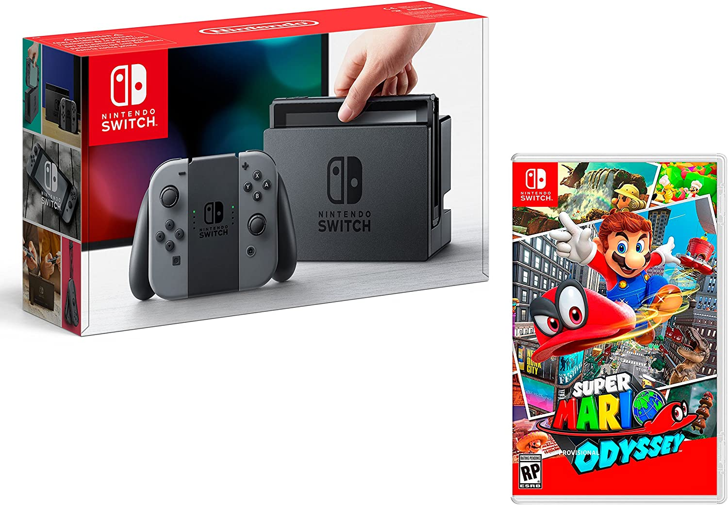 Nintendo Switch Consola 32Gb Gris + Super Mario Odyssey: Amazon.es: Videojuegos