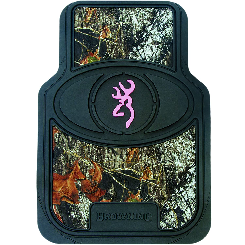Browning Buckmark Floor Mat - Mossy Oak Country Camouflage (Pink Buckmark, Set of 2) SPG Outdoors