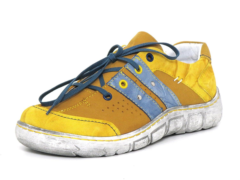 Kacper Mujeres Zapatos con Cordones Amarillo, (Gelb-Kombi) 2-0558 36 EU|gelb-kombi
