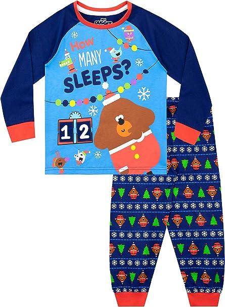Boys Hey Duggee Character Pyjamas Kids Nightwear PJs Long Sleeve Squirrel Blue