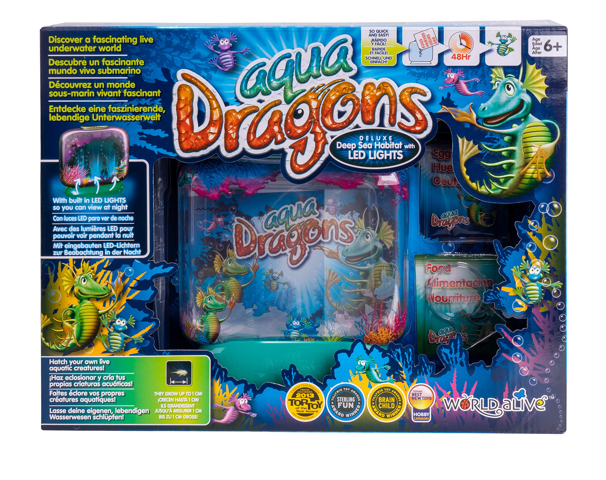 World Alive Aqua Dragons Deluxe Deep Sea Habitat with Led Lights Base