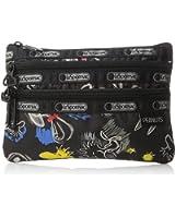 LeSportsac X Peanuts 3 Zip Cosmetic Bag
