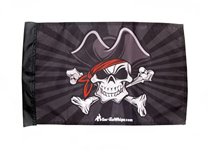 3 Pirate Skulls Replacement Flag Other Bicycle Accessories New 2 Pk