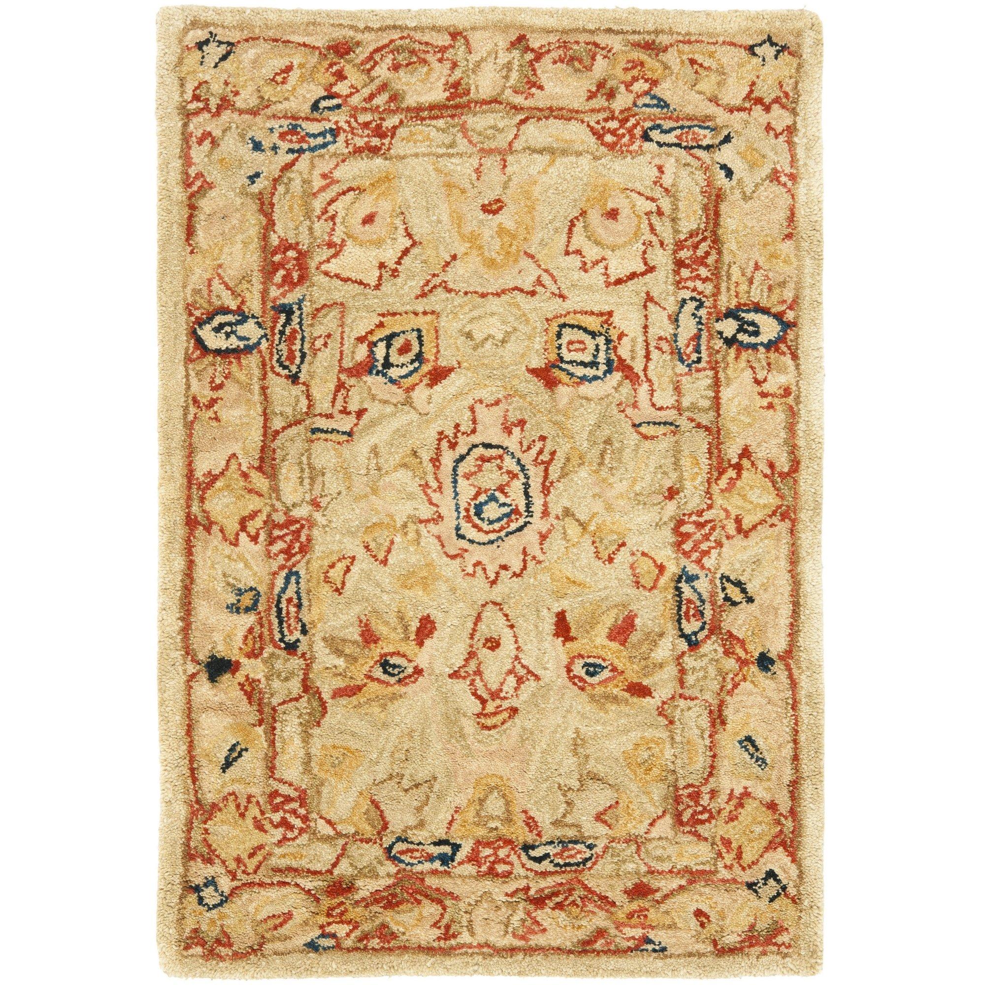 Area Rug Persian 9x12 Oriental Carpet Ivory Wool: 9x12 Rug Wool Beige: Amazon.com