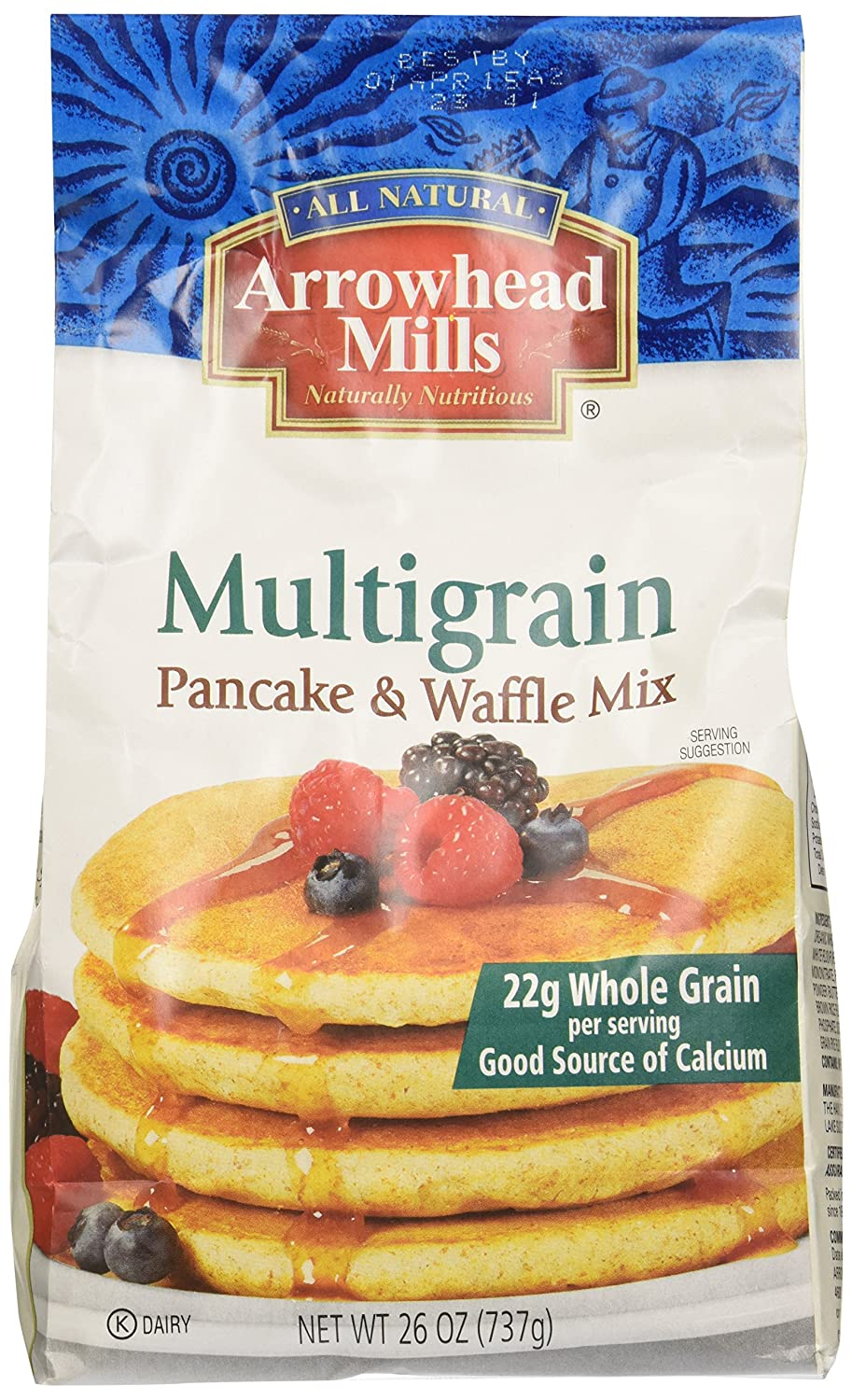 Arrowhead Mills, Mix Pancake Multigra Inch, 26 Ounce