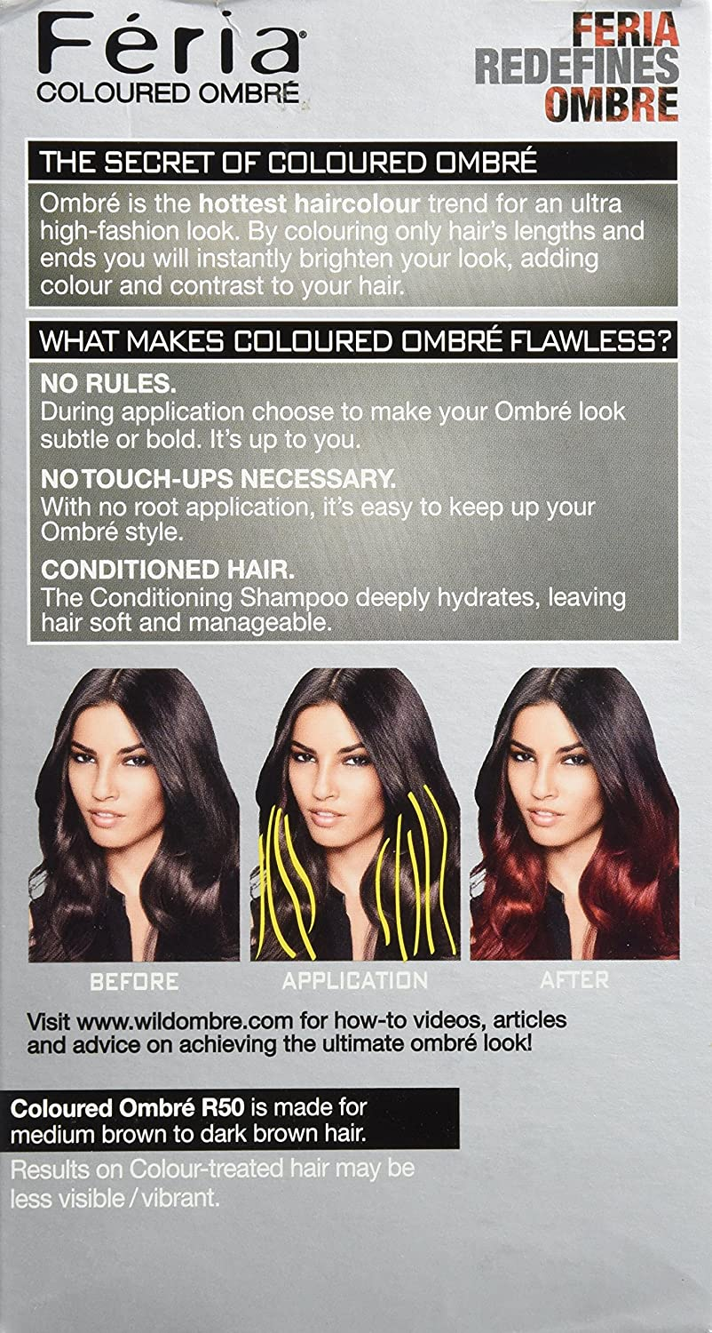 Amazon Feria Brush On Ombre Effect Hair Color R50 Ombre Red