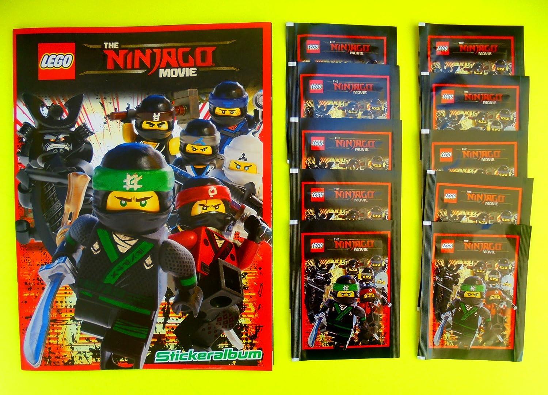 Blue Ocean LEGO ® Ninjago Movie//10 Pack = 50 sticker album
