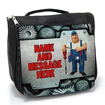 5b2d2b5a76 Personalised Wash Bag Best Dad Handy Man Mechanic St369 Hanging Toiletry Bag