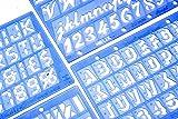 Helix Assorted Font Lettering Guide 4 Piece Set