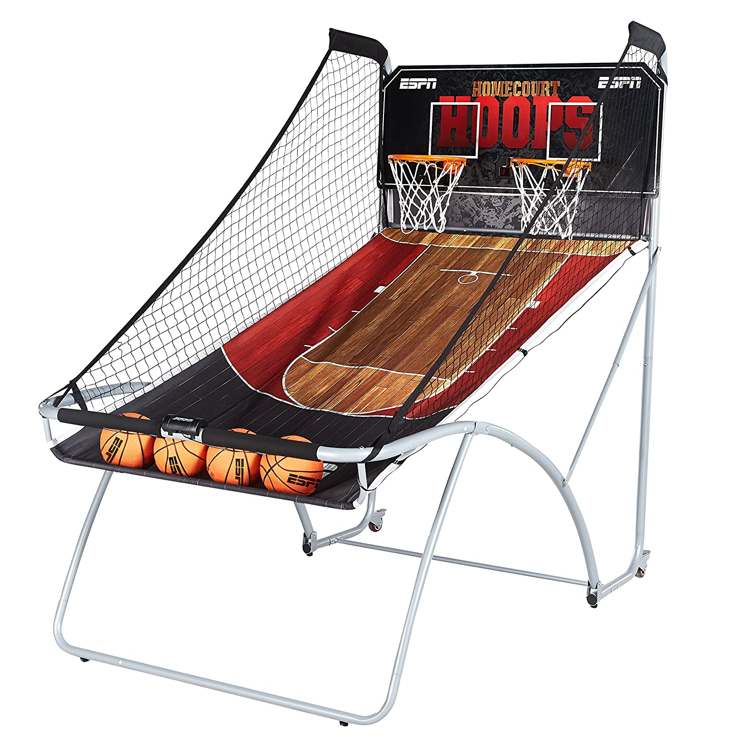 ESPN EZ Fold Indoor Basketball Game for 2 Players with LED Scoring and Arcade Sounds (6-Piece Set) 1658128