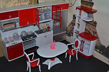 barbie sized dollhouse furniture modern comfort kitchen dining room amazoncom barbie size dollhouse