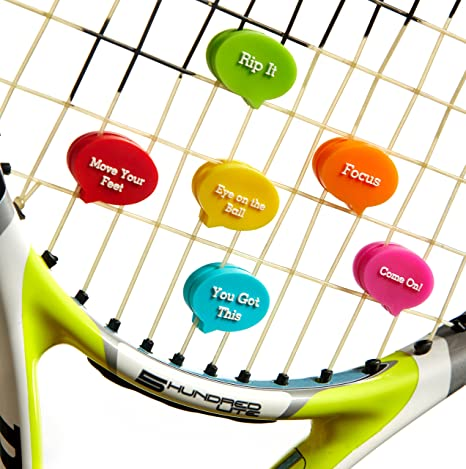 Amortiguadores de vibración con bolsa divertida. El mejor amortiguador de tenis: 6 unidades.