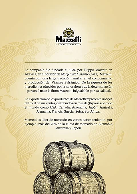 Amazon.com : Mazzetti Cremoso Balsamico-Creme 215 ml : Grocery & Gourmet Food