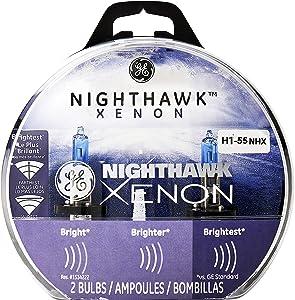 GE Lighting H1-55 NHX/BP2 Nighthawk Xenon Replacement Bulbs, 2-Pack