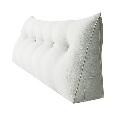 Cotton Linen Long Round Pillow Sofa Waist Pillow Throw Legs Pillows Soft Cushion