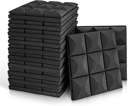 6Pcs 50 * 50 * 5 cm Paneles ac/ústicos Estudio ac/ústico de Espuma Que Absorbe el Sonido de Ingenier/ía Uso NOBRAND Sonido Espuma