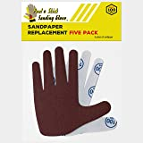 Sandpaper Replacement Five Pack - RIGHT HAND 100 Grit