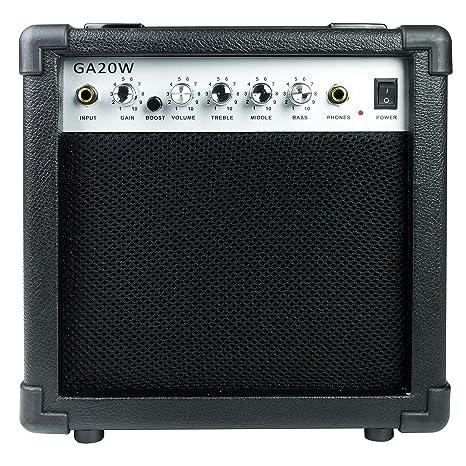 RockJam RJ20WAMP - Amplificador de guitarra