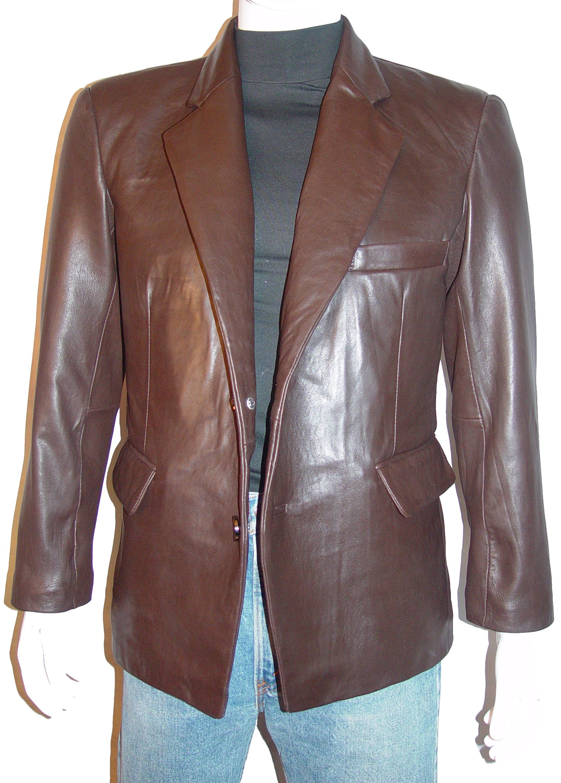 Nettailor Tall Big Man 1087 BIG TALL Size 4 Season Leather Fancy Casual Blazer