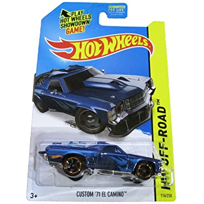 2014 HW Off-Road #116/250, Regular Treasure Hunt Car, Custom '71 El Camino (Blue): Toys & Games