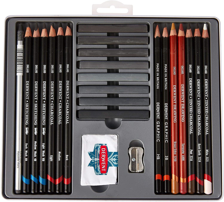 Derwent Crayons desquisse Bo/îte m/étal de 24