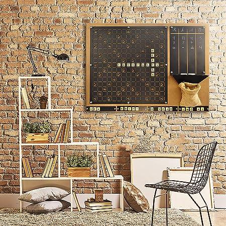 TUBİBU Conveniente para Jugar Scrabble Juego de Pared (Negro): Amazon.es: Hogar