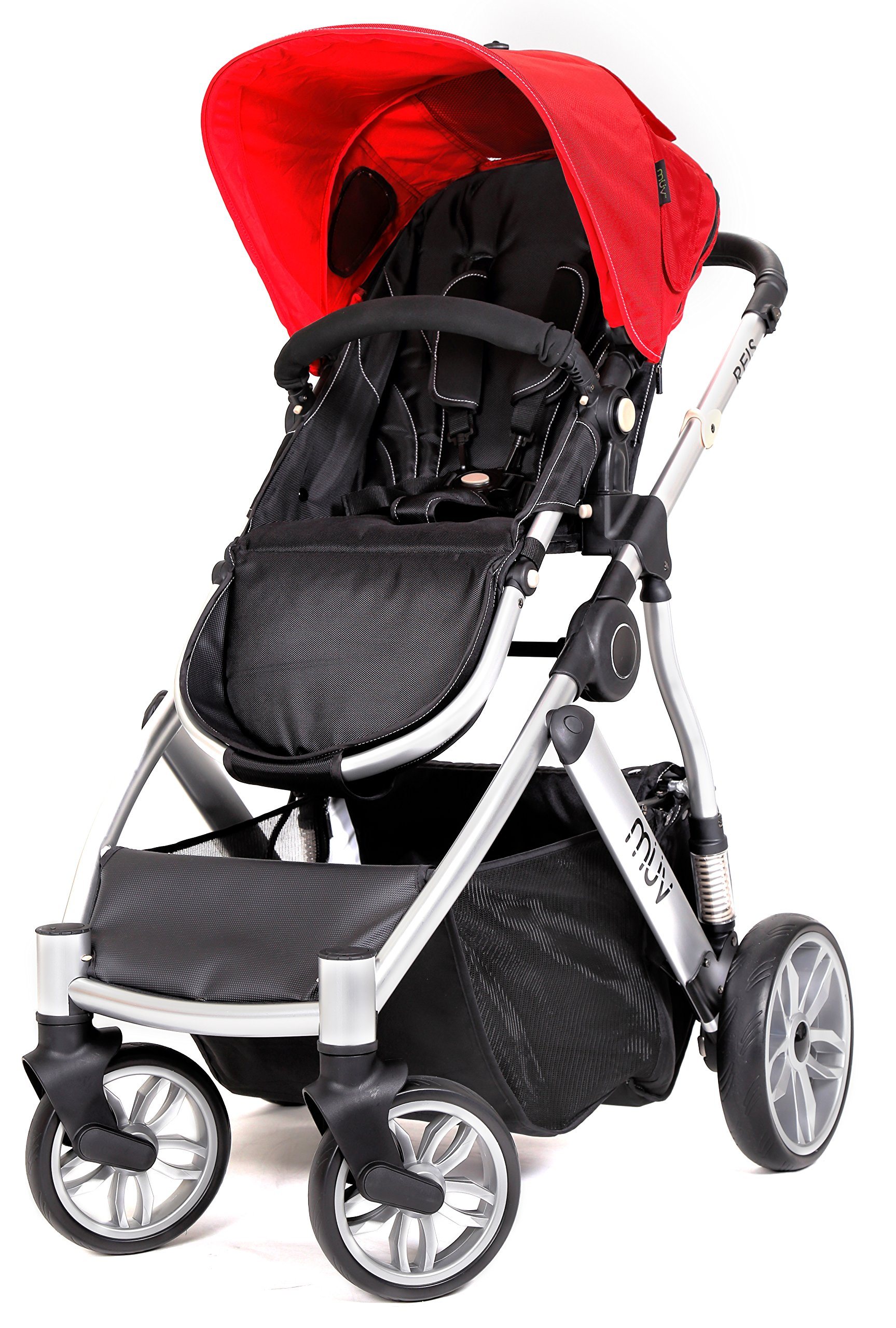 Muv Baby Trend Reis Stroller, Artic Silver/Cabernet