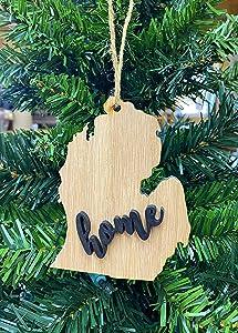 "Michigan""Mitten"" State Ornament Keepsake Christmas Decoration Holiday Gift"