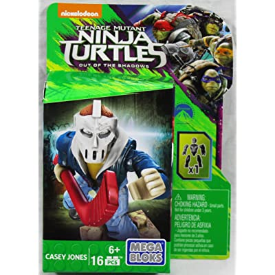 Mega Bloks Teenange Mutant Ninja Turtles Out of The Shadows Casey Jones Figure: Toys & Games