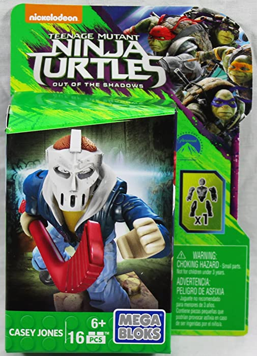 Mega Bloks Teenange Mutant Ninja Turtles Out of The Shadows Casey Jones Figure