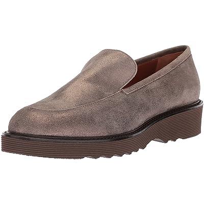 Amazon.com | Aquatalia Women's Kelsey Metallic Suede Loafer | Loafers & Slip-Ons