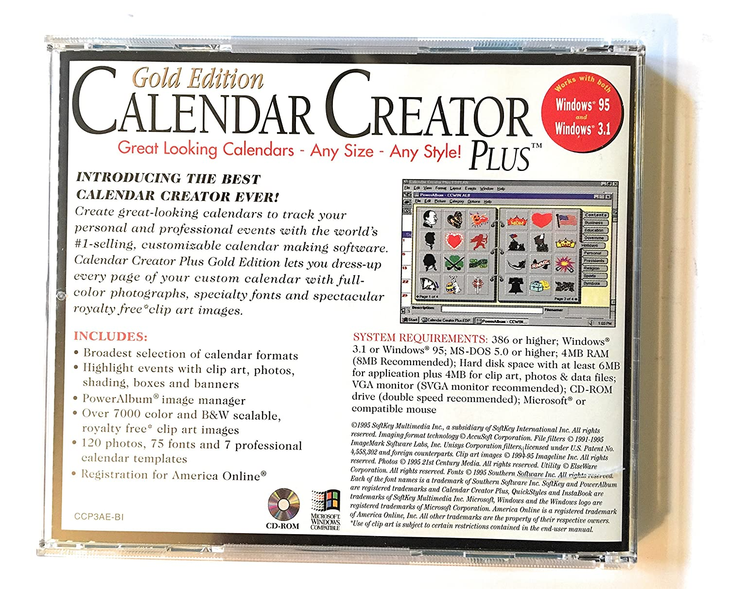 Amazon.com: Calendar Creator Plus, Gold Edition