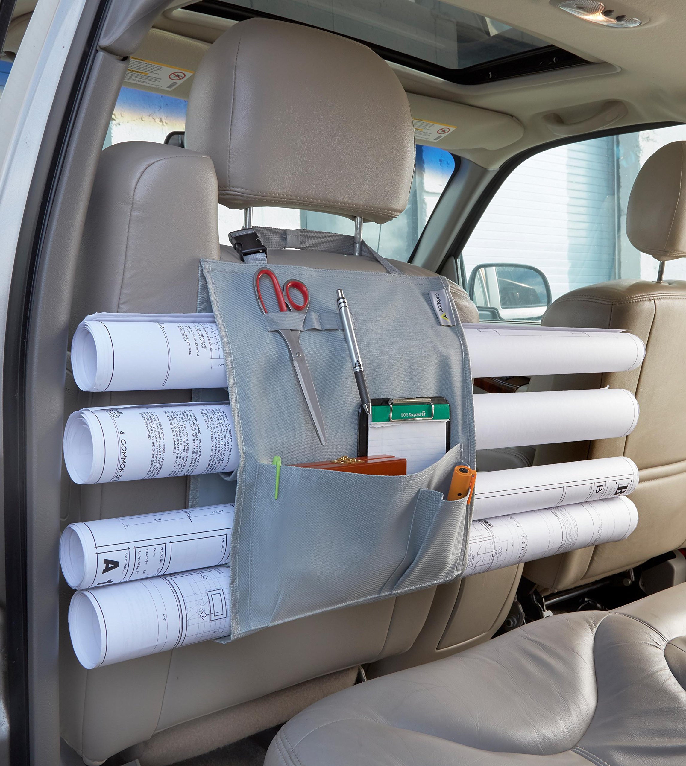 Adir Plans Car Holder, Blueprints Car Holder, Maps Car Holder, Darwings Car Holder, Artwork Car Holder, Posters Car Holder, Document Car Holder - with Pockets