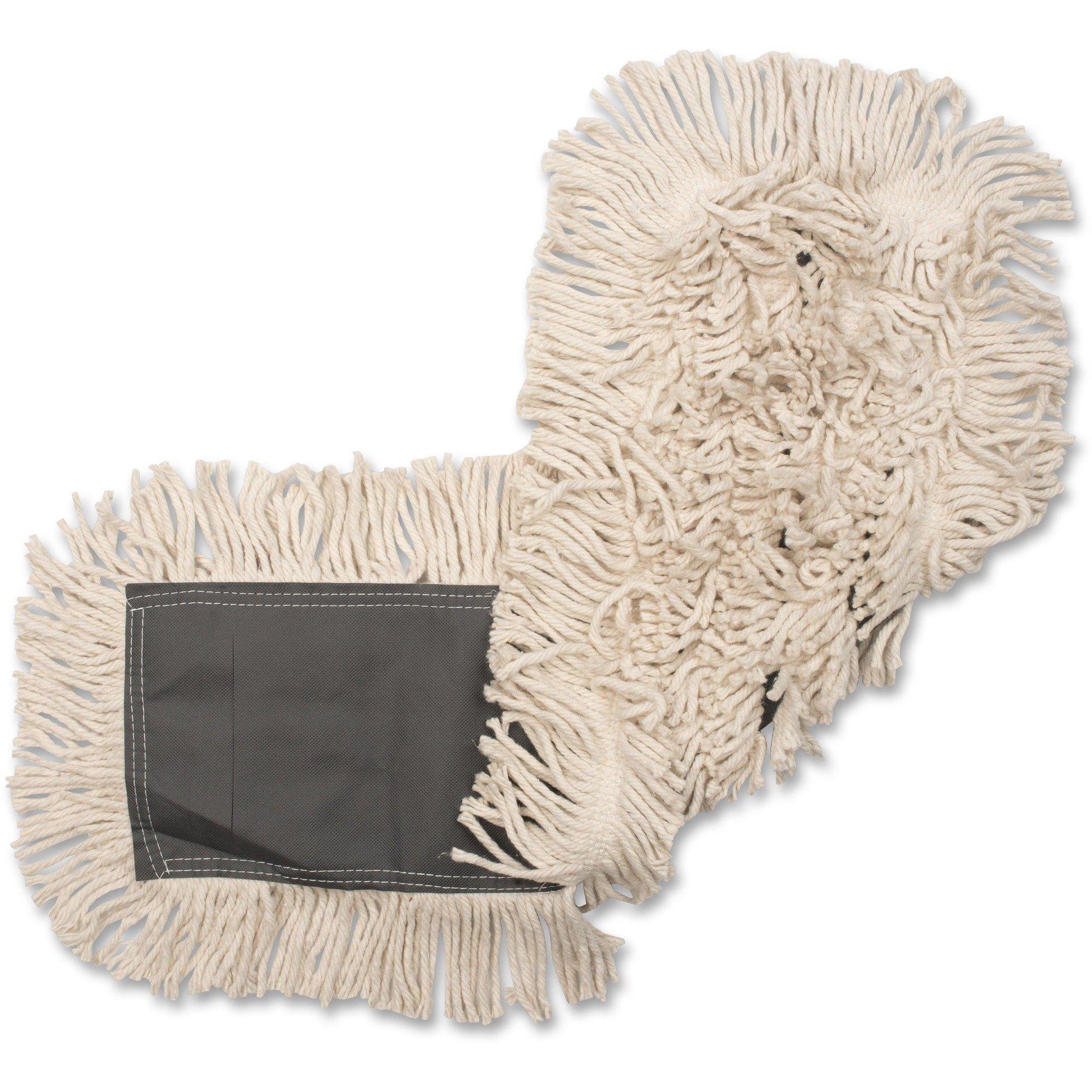 Genuine Joe GJO00185CT Disposable Cotton Dustmop, 18''X25'', 12Ea/Ct, Natural (Pack of 12)