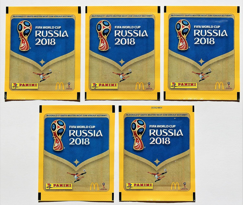 Panini WM 2018 Rusia – 5 Bolsas mcdo nalds Selección Alemana MC donalds: Amazon.es: Juguetes y juegos