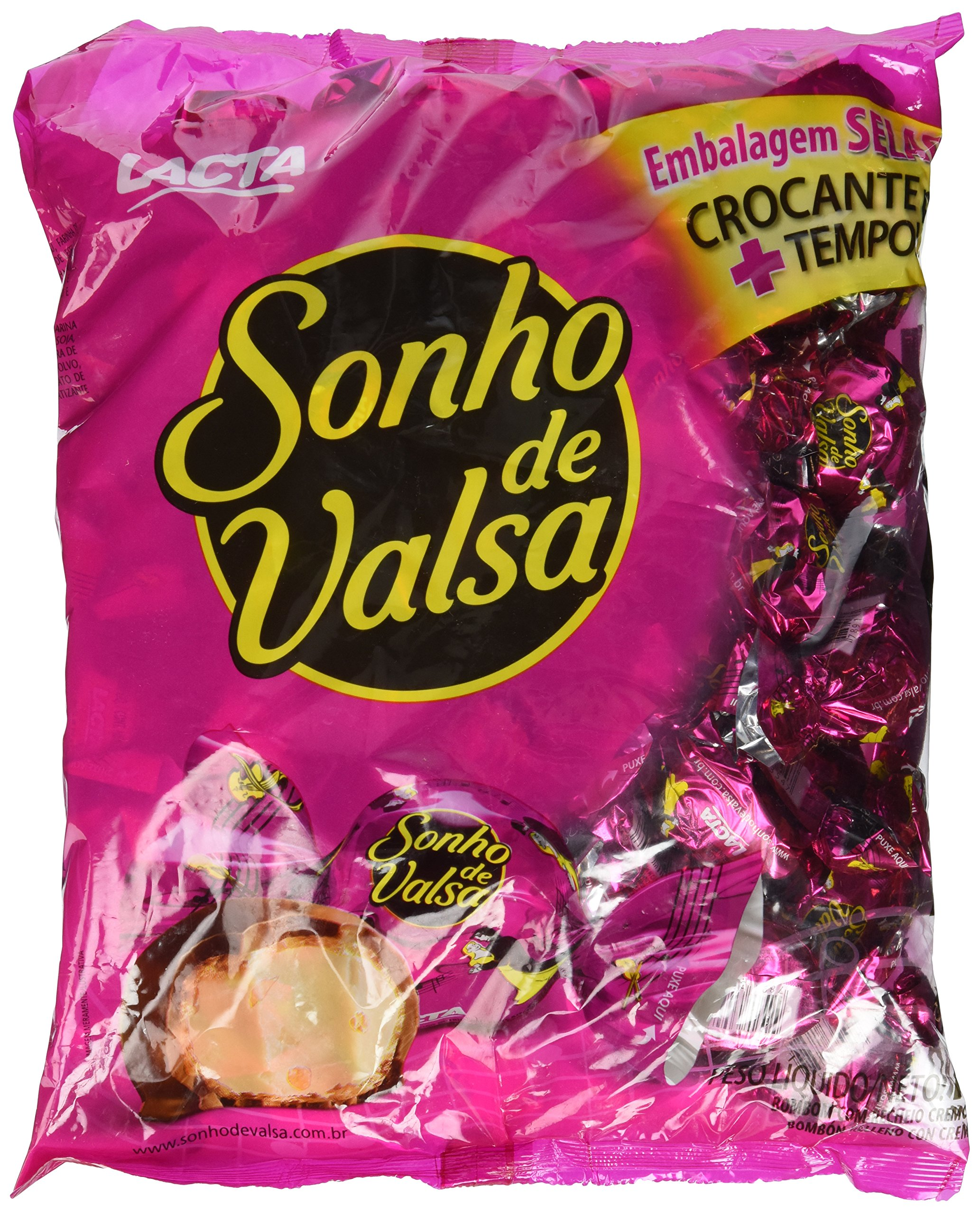 Bonbon Sonho De Valsa - Lacta - 35.27oz   Bombom Sonho De Valsa Lacta - 1kg