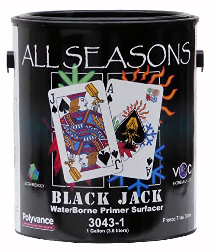 Amazon com: All Season Black Jack Waterborne Primer Surfacer, Black