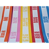 150 Assorted Currency Straps/Bands by MMF