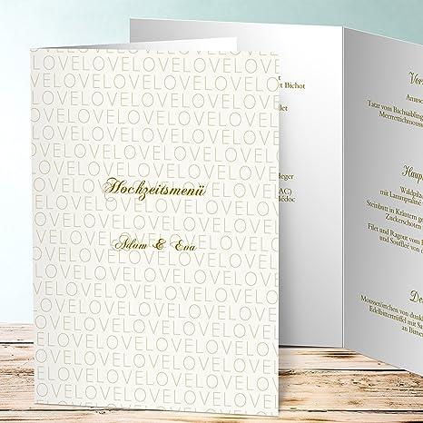 Menükarten Goldene Hochzeit Ein Meer Von Liebe 5 Karten