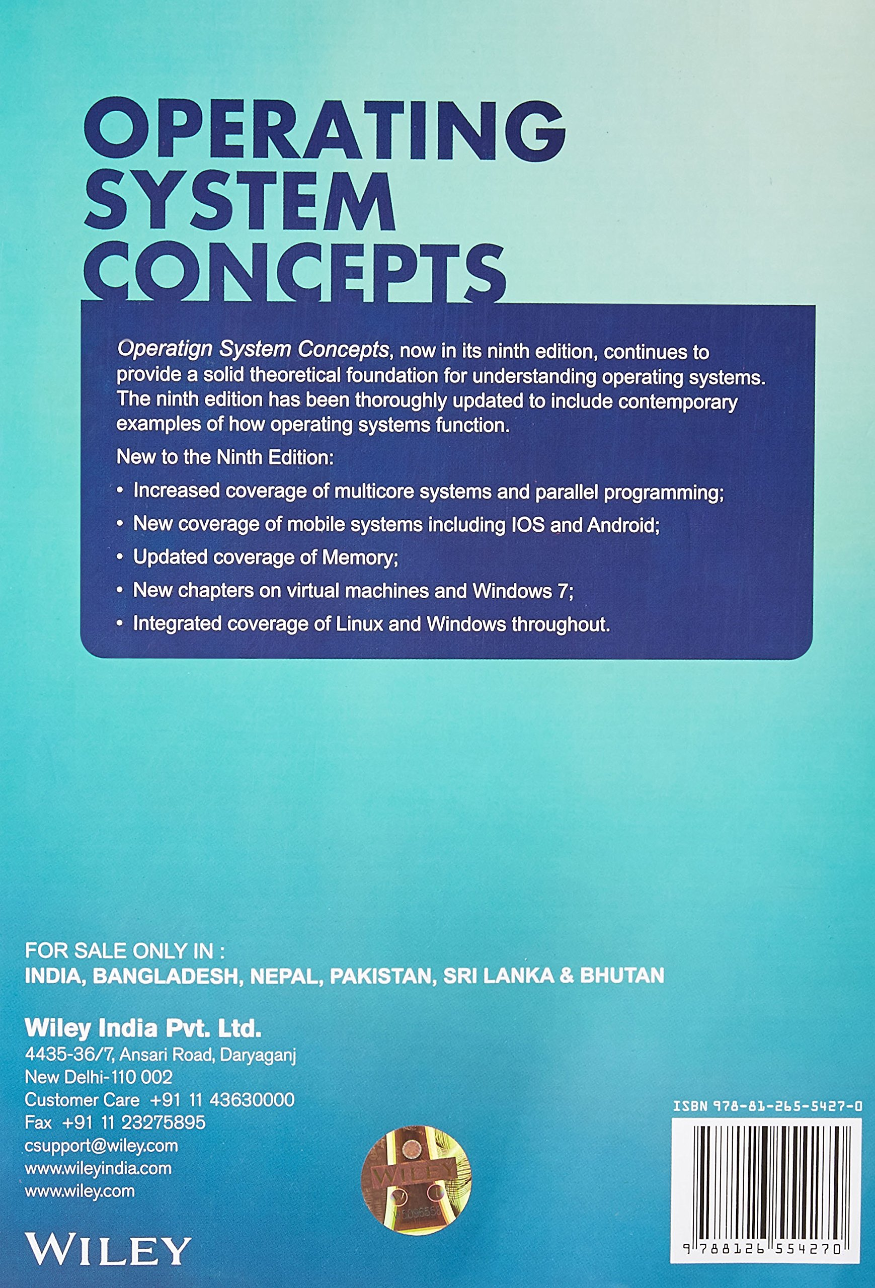 Buy Operating System Concepts Book Online At Low Prices In India