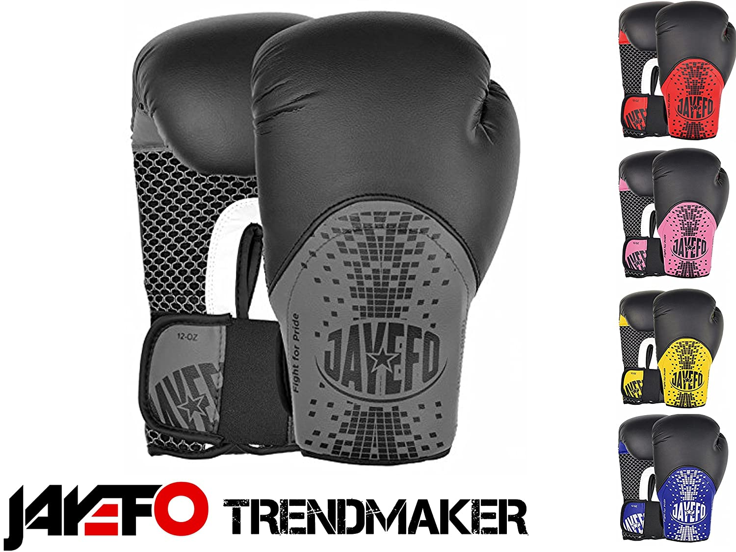 Amazon.com   Jayefo Trend Makers Leather Boxing Gloves MMA Muay Thai Gloves  Kick Boxing Gloves Sparring Gloves Bag Gloves PUNCHNG Bag Gloves. 33dba894c1606
