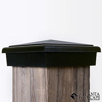 4 x 6 copper fence post caps nominal black pyramid slim profile year warranty solar 6x6 pool round