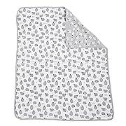 Mud Pie Sheep Reversible Cotton Baby Blanket