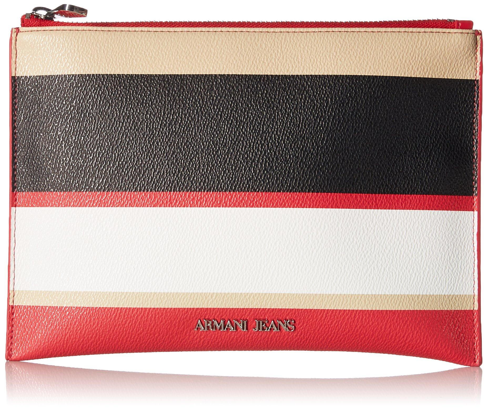 Armani Jeans Stripe Pouch 2, Red Stripe