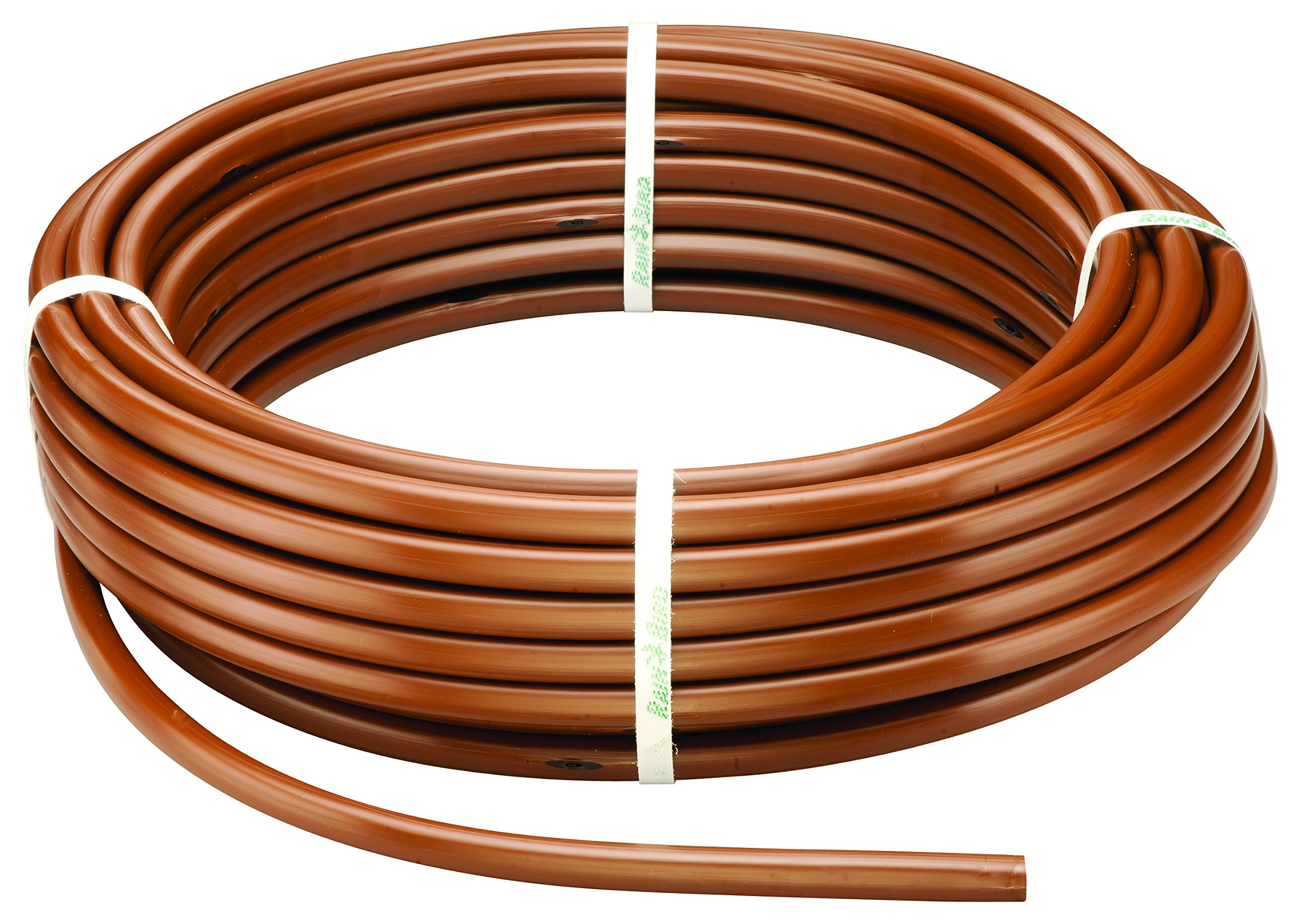 "Rain Bird ET63-100S Drip Irrigation Pressure Compensating 1/2"" (0.634"" OD) Emitter Tubing, 18"" Emitter Spacing, 100' Roll, Brown"