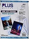 Plus Office InkJet Paper Photo Quality - Papel fotográfico, 2880 dpi, paquete 100 hojas, A4